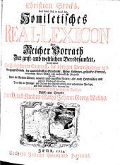Homiletisches Real-Lexikon, od. reicher Vorrath zur geist- und weltlichen Beredsamkeit