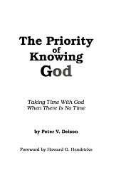 The Priority of Knowing God