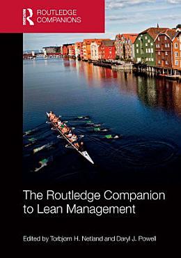 The Routledge Companion to Lean Management PDF