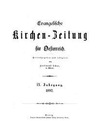 Evangelische Kirchen Zeitung f  r Oesterreich PDF