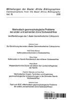 Methodisch geomorphologische Probleme PDF