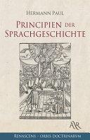 Principien der Sprachgeschichte PDF