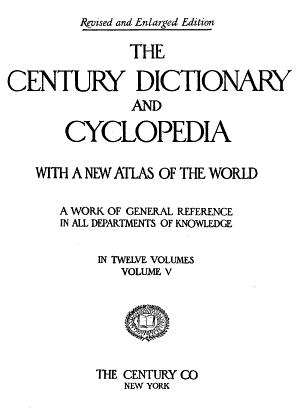 The Century Dictionary: The Century dictionary