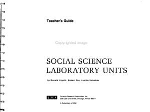 Social Science Laboratory Units