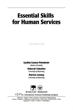 Essential Skills for Human Services PDF
