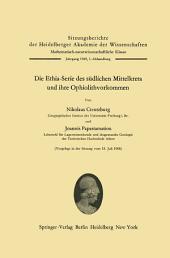 Die Ethia-Serie des südlichen Mittelkreta und ihre Ophiolithvorkommen