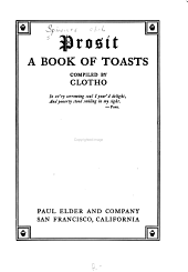 Prosit: A Book of Toasts