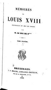 Mémoires de Louis XVIII: Volumes11à12