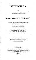 Speeches of the Right Honorable John Philpot Curran     on the late very interesting state trials     Third edition  with additions PDF