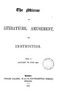 The Mirror of Literature Amusement and Instruction VOL I January to June 1847 PDF