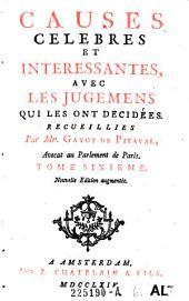 Causes celebres et interessantes, avec les jugemens qui les ont decidees: Volume6