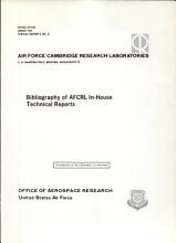 Bibliography of AFCRL In house Technical Reports PDF