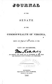 Journal of the Senate of Virginia