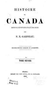 Histoire du Canada depuis sa découverte jusqu'à nos jours: Volume2