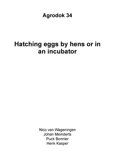 AD34E Hatching eggs by hens or in an incubator PDF