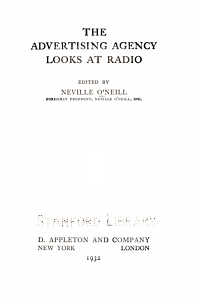 The Advertising Agency Looks at Radio PDF