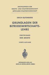 Grundlagen der Betriebswirtschaftslehre: Ausgabe 4