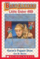 Karen s Puppet Show  Baby Sitters Little Sister  88  PDF