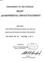Proposed 1982 Outer Continental Shelf Oil and Gas Lease Sale Offshore Southern California PDF