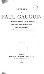 Lettres de Paul Gauguin à Georges Daniel de Montfreid