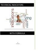Technical Indicators With Formula