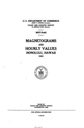 Magnetograms and Hourly Values  Honolulu  Hawaii PDF