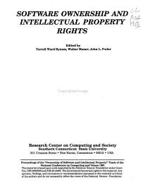 Software Ownership and Intellectual Property Rights PDF