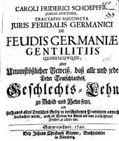 De feudis Germaniae gentilitiis