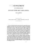 Observations philologiques et archéologiques sur les noms des vases Grecs