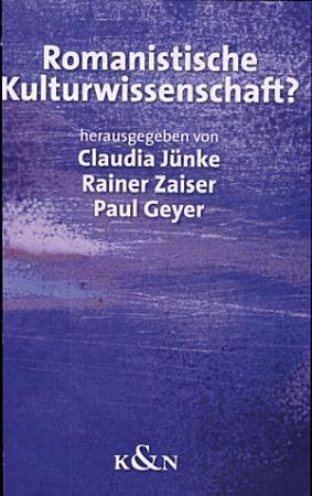 Romanistische Kulturwissenschaft  PDF