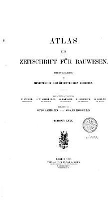 Atlas zur Zeitschrift f  r Bauwesen PDF