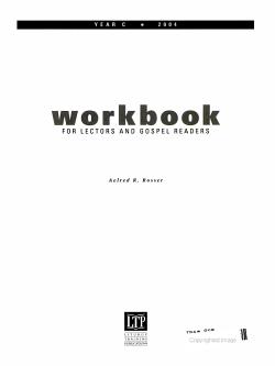 Workbook for Lectors and Gospel Readers PDF