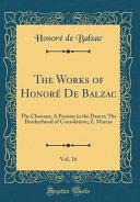 The Works of Honor   De Balzac  Vol  16 PDF