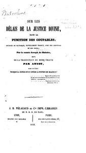 Sur les délais de la justice divine: dans la punition des coupables, ouvrage de Plutarque