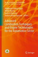 Advanced Combustion Techniques and Engine Technologies for the Automotive Sector PDF