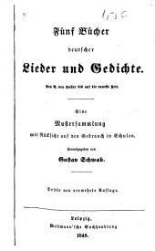 Fünf Bücher deutscher Lieder und Gedichte