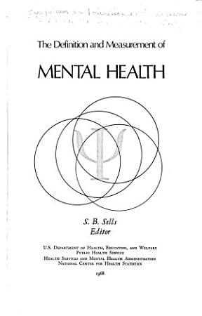 The Definition and Measurement of Mental Health PDF