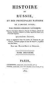 Histoire de Russie: et des principales nations de l'Empire Russe, Volume2
