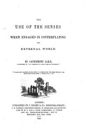 The Use of the Senses when Engaged in Contemplating the External World PDF