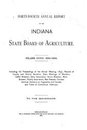 Annual Report of the Indiana State Board of Agriculture: Volume 36; Volume 44, Part 1895