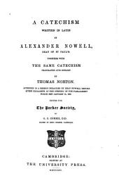A Catechism Written in Latin: Volume 32