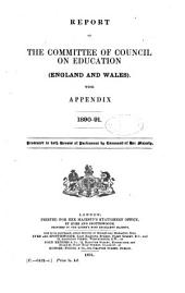 Minutes of the Committee of Council on Education Correspondence, Financial Statements, Etc., and Reports by Her Majesty's Inspectors of Schools