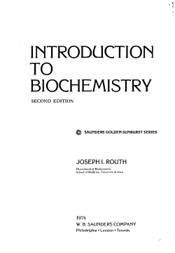 Introduction to Biochemistry PDF