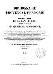 Dictionnaire provençal-français: Volume2