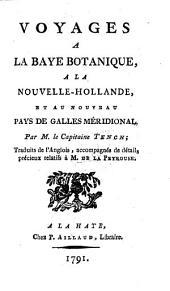 Voyages a la baye Botanique, a la Nouvelle-Hollande, et au nouveau pays de Galles Méridional