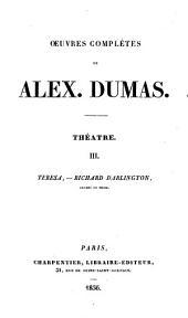 Oeuvres complètes de Alex. Dumas: Théatre ...