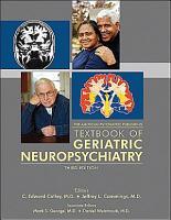 The American Psychiatric Publishing Textbook of Geriatric Neuropsychiatry PDF
