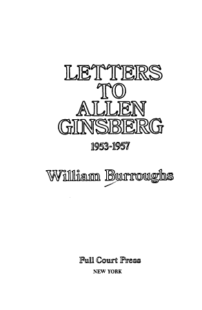 Letters to Allen Ginsberg  1953 1957 PDF