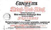 Die bey denen Europaeern jetzt übliche Kriegsbaukunst