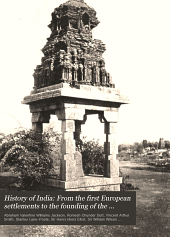 History of India: From the first European settlements to the founding of the English East India Company, by Sir W.W. Hunter